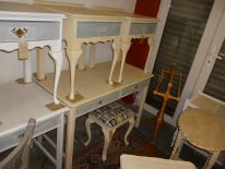 Dressing table / desk in Cream and Duck Egg Blue