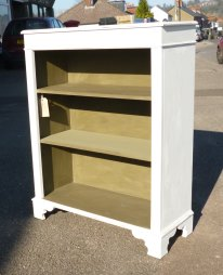 Medium sized bookcase in Old White and Olive
