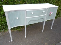 Sideboard in Annie Sloan Paris Grey and Duck Egg Blue