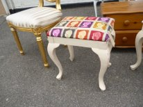 Red First Class dressing table stool