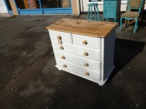 Pine 2 over 3 chest in Old White