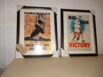A pair of framed Dig for Victory posters