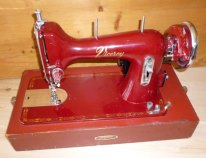 Viceroy sewing machine in red