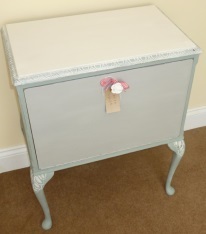 Side Cabinet in Annie Sloan Duck Egg Blue and Paris Grey