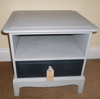 Stag Minstrel bedside tables in Paris Grey and Graphite