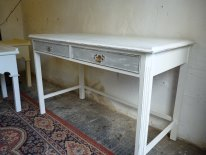 Dressing table / desk in White and Grey