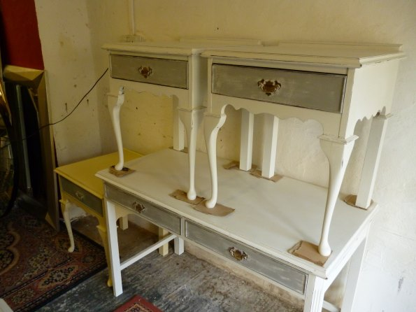 Bedside tables in Old White and Paris Grey